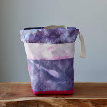 Load image into Gallery viewer, Aquarelle Project Bag, Ribbon - Hand-Dyed Organic Cotton, Fucsia-La Cave à Laine