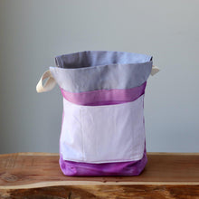 Load image into Gallery viewer, Aquarelle Project Bag, Ribbon - Hand-Dyed Organic Cotton, Rosa Magenta-La Cave à Laine