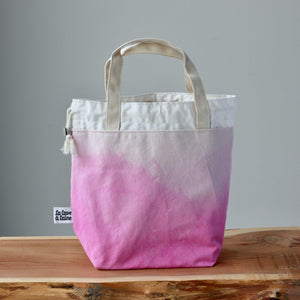 Aquarelle Project Bag - Hand-Dyed Organic Cotton, Rosa Fenicottero-La Cave à Laine
