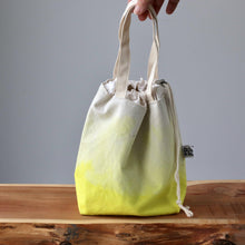 Load image into Gallery viewer, Aquarelle Project Bag - Hand-Dyed Organic Cotton, Giallo Limone-La Cave à Laine
