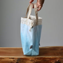 Load image into Gallery viewer, Aquarelle Project Bag - Hand-Dyed Organic Cotton, Blu Cielo-La Cave à Laine