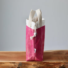 Load image into Gallery viewer, Aquarelle Project Bag - Hand-Dyed Organic Cotton, Sorbetto Rosa-La Cave à Laine
