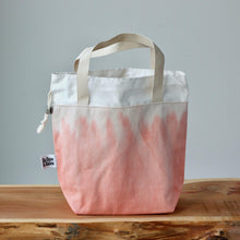 Load image into Gallery viewer, Aquarelle Project Bag - Hand-Dyed Organic Cotton, Rosso Salmone-La Cave à Laine