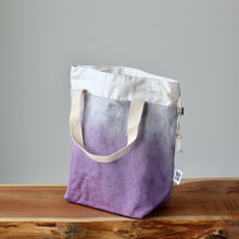 Load image into Gallery viewer, Aquarelle Project Bag - Hand-Dyed Organic Cotton, Viola-La Cave à Laine