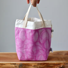 Load image into Gallery viewer, Aquarelle Project Bag - Hand-Dyed Organic Cotton, Rosa Magenta-La Cave à Laine