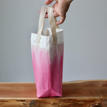 Load image into Gallery viewer, Aquarelle Project Bag - Hand-Dyed Organic Cotton, Rosa Cocomero-La Cave à Laine