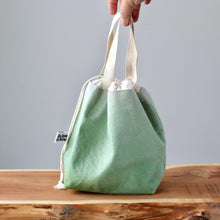 Load image into Gallery viewer, Aquarelle Project Bag - Hand-Dyed Organic Cotton, Verde Carciofo-La Cave à Laine
