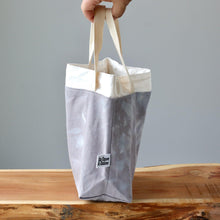 Load image into Gallery viewer, Aquarelle Project Bag - Hand-Dyed Organic Cotton, Grigio Cielo-La Cave à Laine