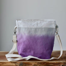 Load image into Gallery viewer, Aquarelle Project Bag - Hand-Dyed Organic Cotton, Crossbody, Viola-La Cave à Laine