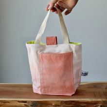 Load image into Gallery viewer, Aquarelle Small Project Bag - Hand-Dyed Organic Cotton, Rosso Salmone-La Cave à Laine
