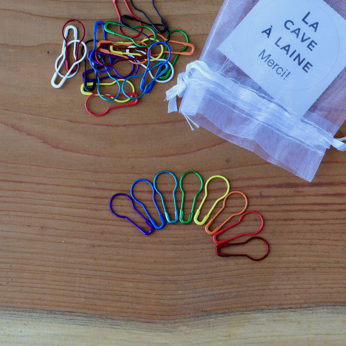 30 Safety Stitch Markers - Rainbow-La Cave à Laine
