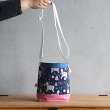 Load image into Gallery viewer, Llama Project Bag - Crossbody, Pink and Blue-La Cave à Laine