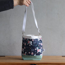 Load image into Gallery viewer, Llama Project Bag - Crossbody, Green and White-La Cave à Laine