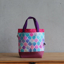 Load image into Gallery viewer, Zellige Project Bag - Short Handles, Pink-La Cave à Laine