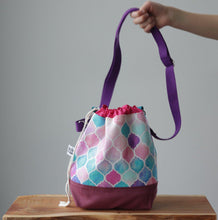 Load image into Gallery viewer, Zellige Project Bag - Crossbody, Pink-La Cave à Laine