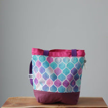 Load image into Gallery viewer, Zellige Project Bag - Long Handles - Pink-La Cave à Laine