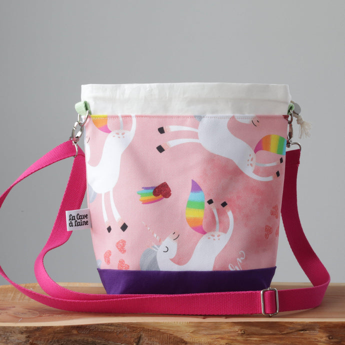 Unicorns Project Bag - Crossbody-La Cave à Laine