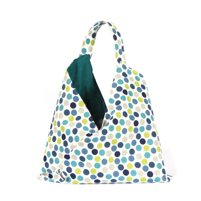 Origami Project Bag - Pois, Reversible-La Cave à Laine