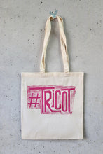 Load image into Gallery viewer, Hand Printed Tote Bag - #Tricot-La Cave à Laine