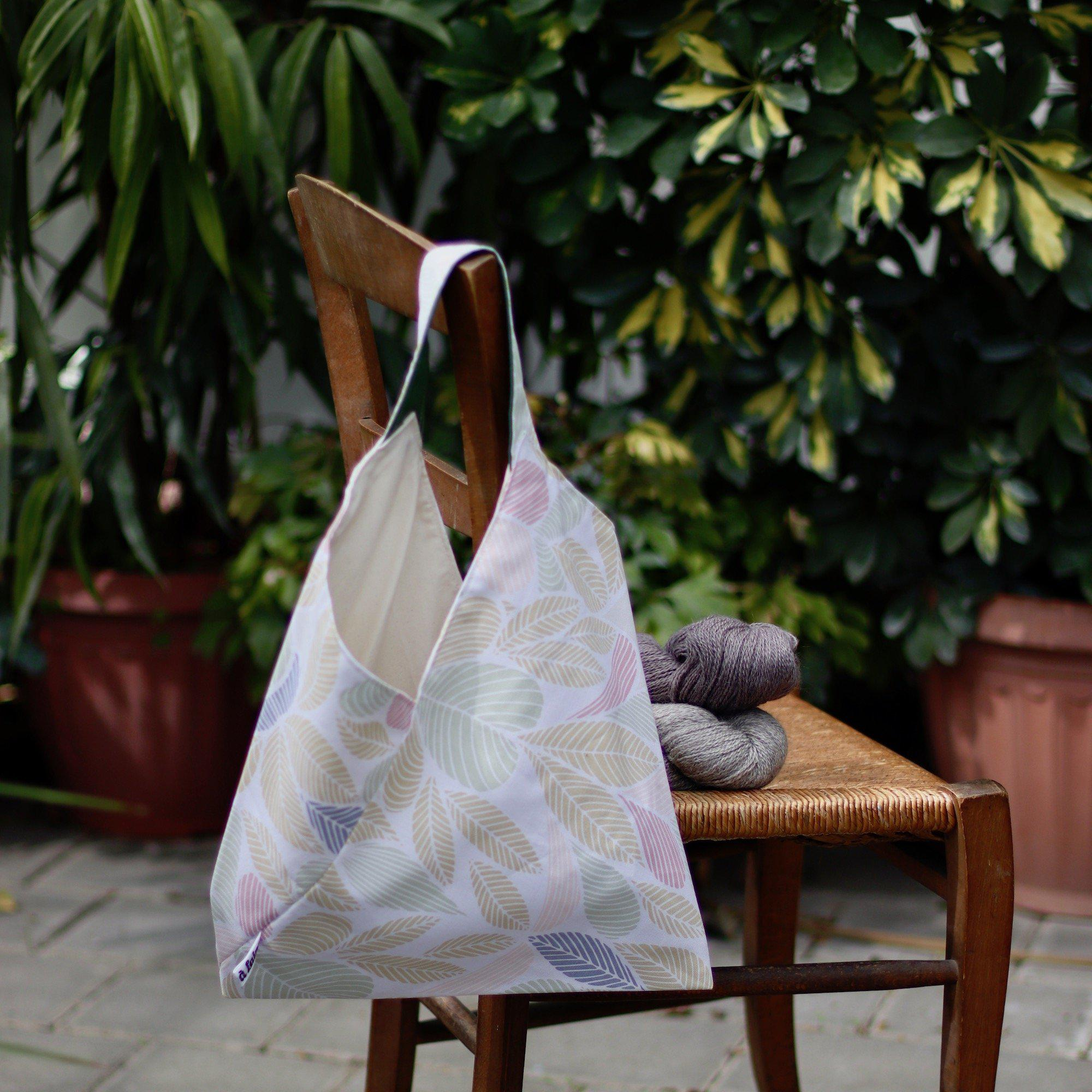 Origami Project Bag - Foliage, Reversible-La Cave à Laine