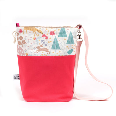 Bucket Bag - Crossbody Shoulder Strap, Forest-La Cave à Laine