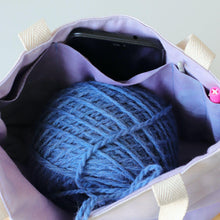 Load image into Gallery viewer, Aquarelle Small Project Bag - Hand-Dyed Organic Cotton, Lavanda-La Cave à Laine