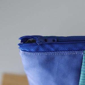 Extra-Large Zipper Pouch - Coated Cotton-La Cave à Laine
