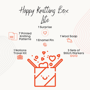 Happy Knitting Box - Lite - A mystery box for knitters-La Cave à Laine