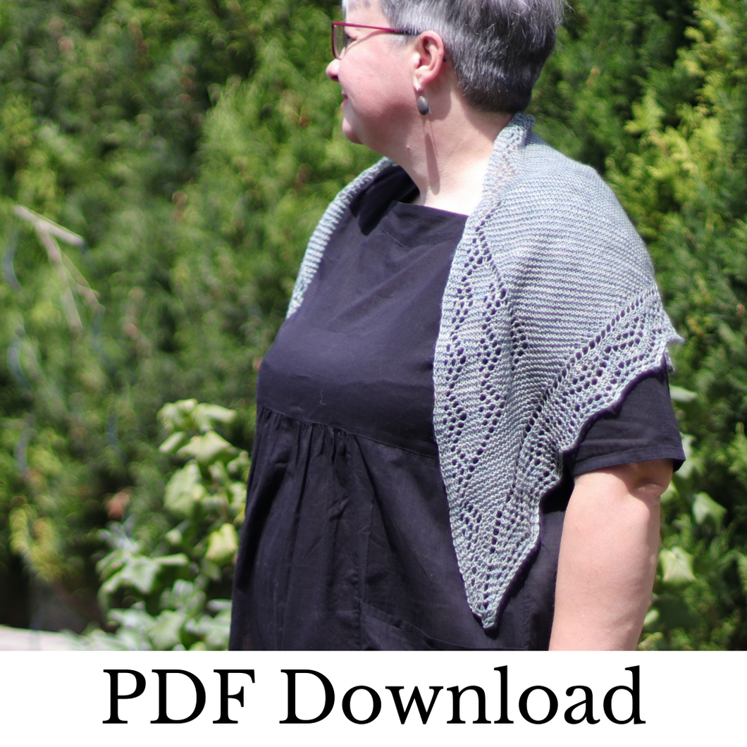 Sapore di Sale Shawl - PDF pattern download-La Cave à Laine