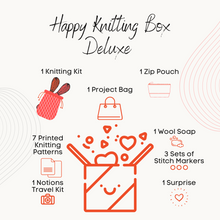 Load image into Gallery viewer, Happy Knitting Box - Deluxe Edition - A mystery box for knitters-La Cave à Laine