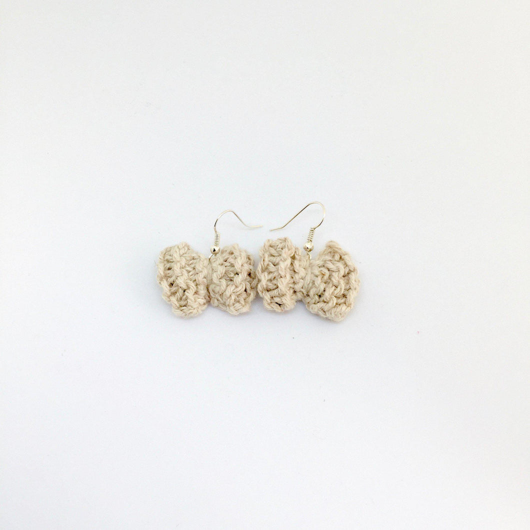Handmade Cotton Earrings-La Cave à Laine