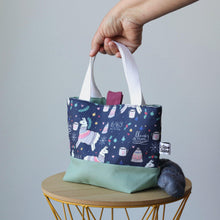 Load image into Gallery viewer, Llama Project Bag - Small, with closing-La Cave à Laine