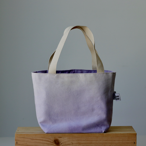 Aquarelle Small Project Bag - Hand-Dyed Organic Cotton, Lavanda-La Cave à Laine