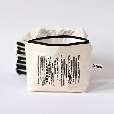 Zip Notion Pouch Large - Screen print - Limited Edition-La Cave à Laine