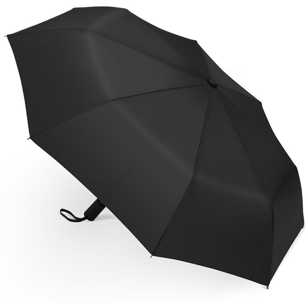Splash Classic Black Automatic Folding Travel Umbrella - Auto Open & Close - Sun, Rain & Wind Resistant - Anielas.com