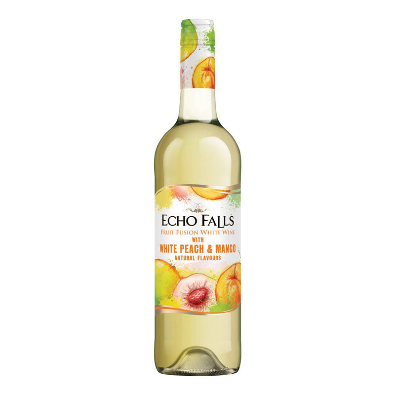 Echo Falls Fruit Fusion Peach & Mango 9% 750ml x 6 Bottles