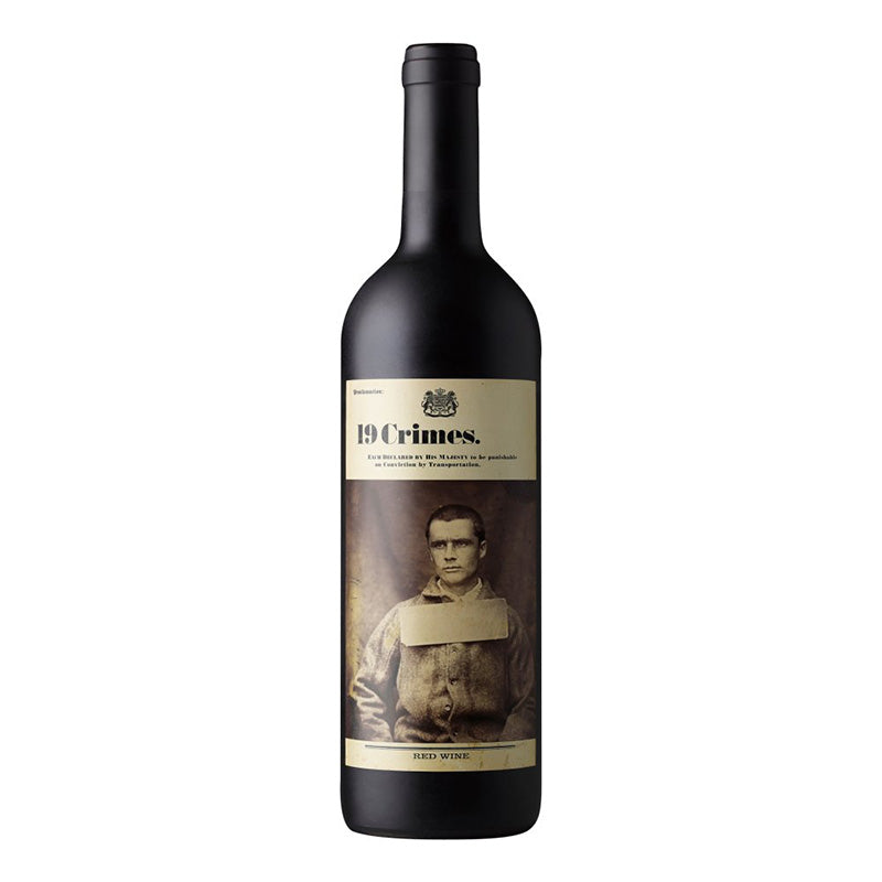 19 Crimes Red Australian Wine 13.5% 75cl x 6 Bottles