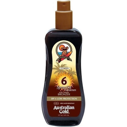 Australian Gold SPF 6 or SPF 10 Spray Gel with Instant Bronzer 237ml - Anielas.com