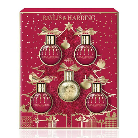Baylis & Harding Midnight Fig and Pomegranate 5 Piece Christmas Gift Set | Anielas.com