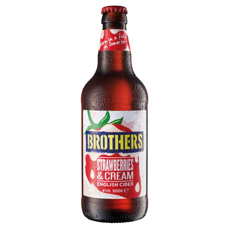 Brothers Strawberries & Cream Cider - 12 x 500ml | Anielas.com