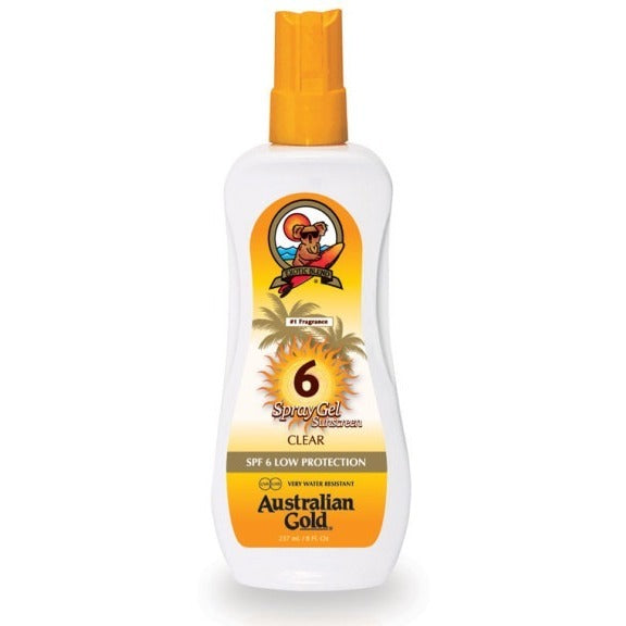 Australian Gold® SPF 6, 10, 15 or 30 Spray Gel | Anielas.com