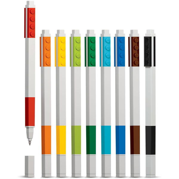 Lego Gel Pen Set 9-Pack | Anielas.com