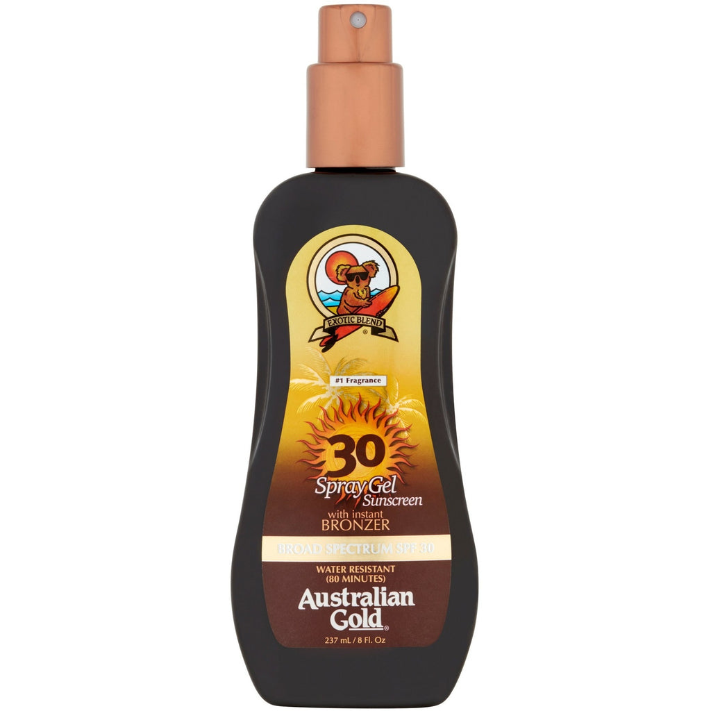 Australian Gold SPF 6, 10, 15 or 30 Spray Gel with Instant Bronzer 237ml | Anielas.com
