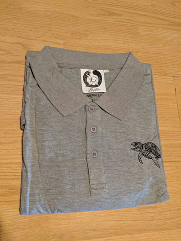 Bamboo Golf/Dress Polo Honu Sea Turtle Gray