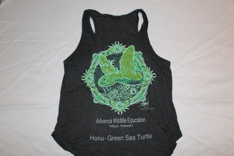 Women's Bamboo Racerback Tank Sea Turtle