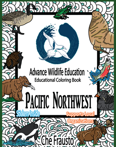 .Pacific Northwest Wildlife Educational Coloring Book