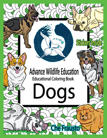 .Dogs Educational Coloring Book