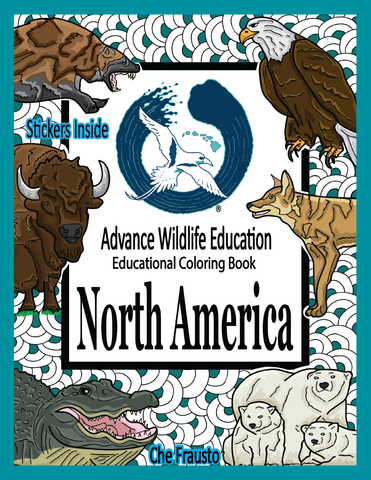 .NEW US North America Wildlife Educational Coloring Book