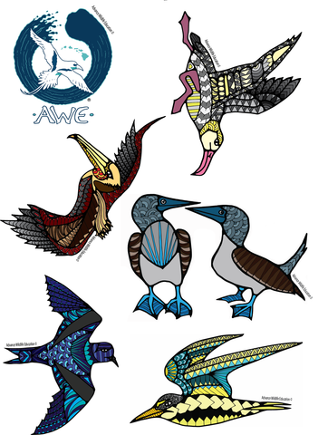 Sticker Sheet Seabirds