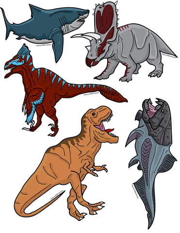 Sticker Sheet Dinosaurs